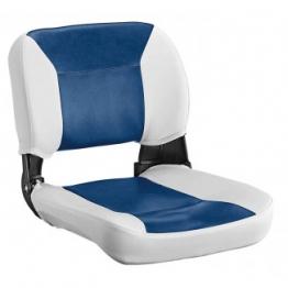 Сиденье NAVIGATOR 410х455 мм, бело-синее