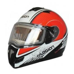 Шлем модулярный LEO STREAM EDL G12 бело-красный металлик M