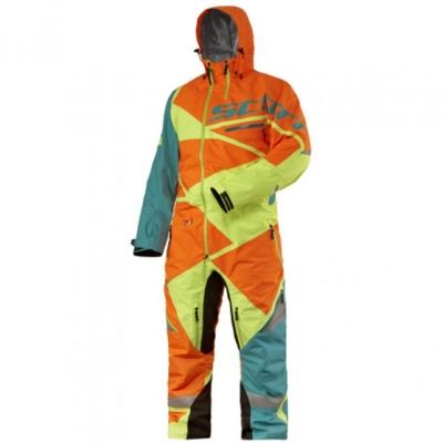 Комбинезон X One Pro L aqua blue/orange